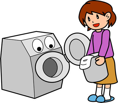 洗濯物を適量に