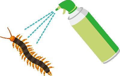ムカデ専用の殺虫剤
