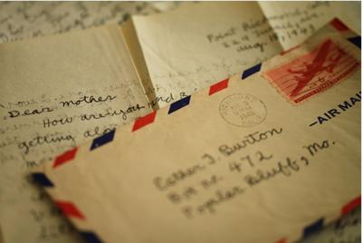 横書きのときの切手の位置