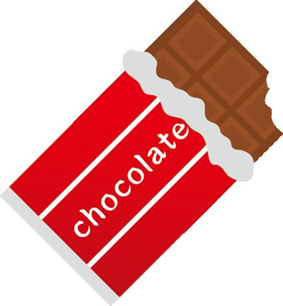板チョコをかぶりつく