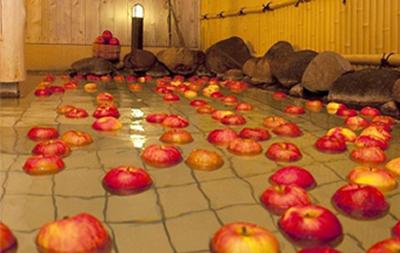 リンゴ風呂
