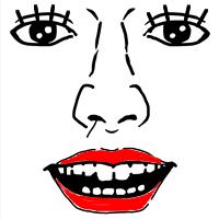 鼻毛が出ている女性