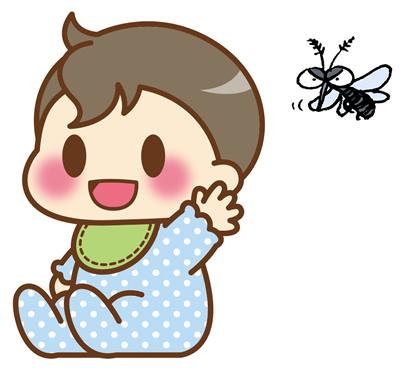 赤ちゃんと蚊