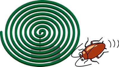 蚊取り線香とゴキブリ