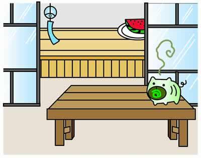 蚊取り線香を室内で使う