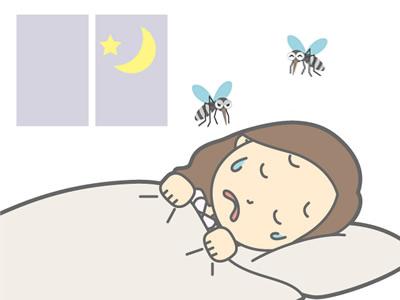 耳元に蚊がいて眠れない