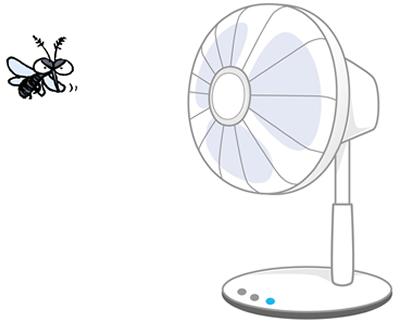 蚊と扇風機